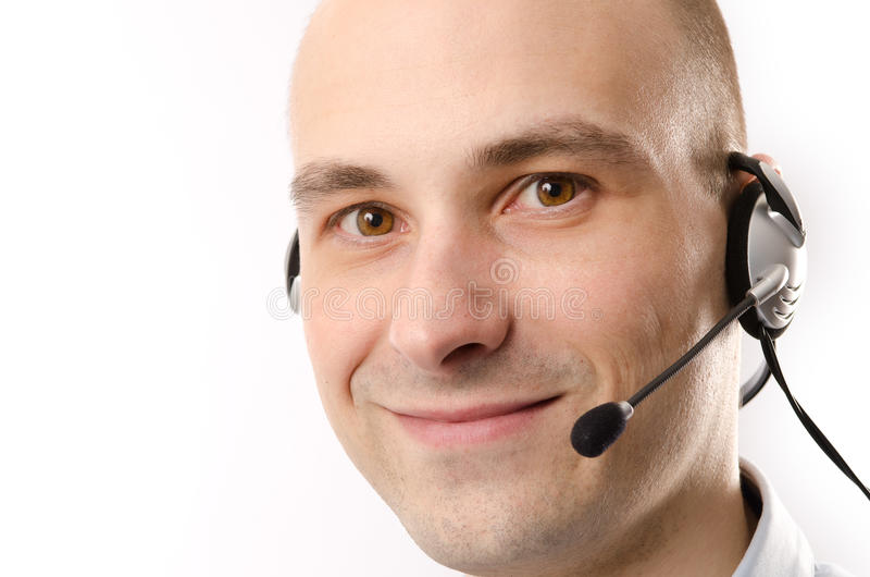 Download Smiling Customer Service Agent Stock Image - Image: 25504771