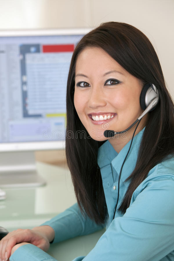 Download Smiling Customer Service Rep Stock Photo - Image: 9394674