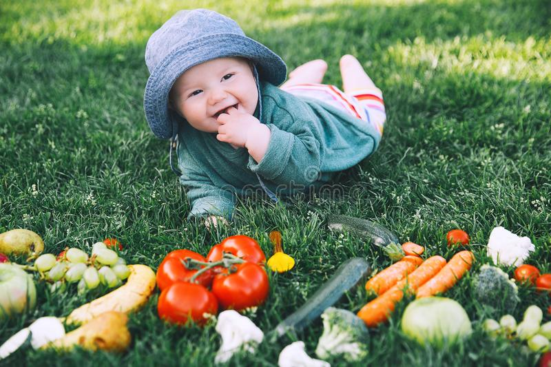 Download Healthy Child And Family Natural Nutrition Stock Image - Image of fruit, healthy: 117597517