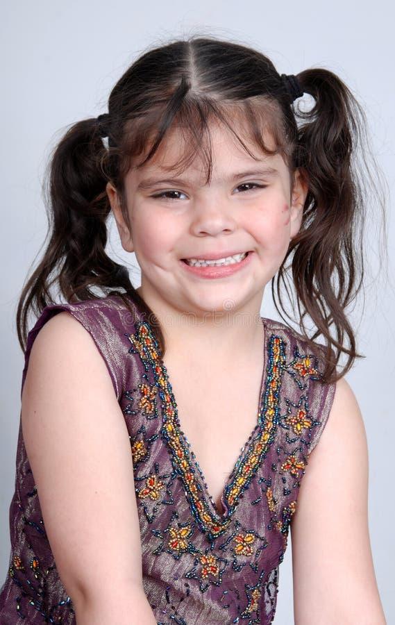 Smiling cute girl stock photo