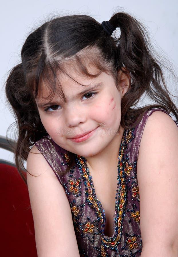 Smiling cute girl stock image