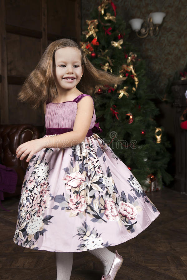 Smiling cute little girl royalty free stock photos