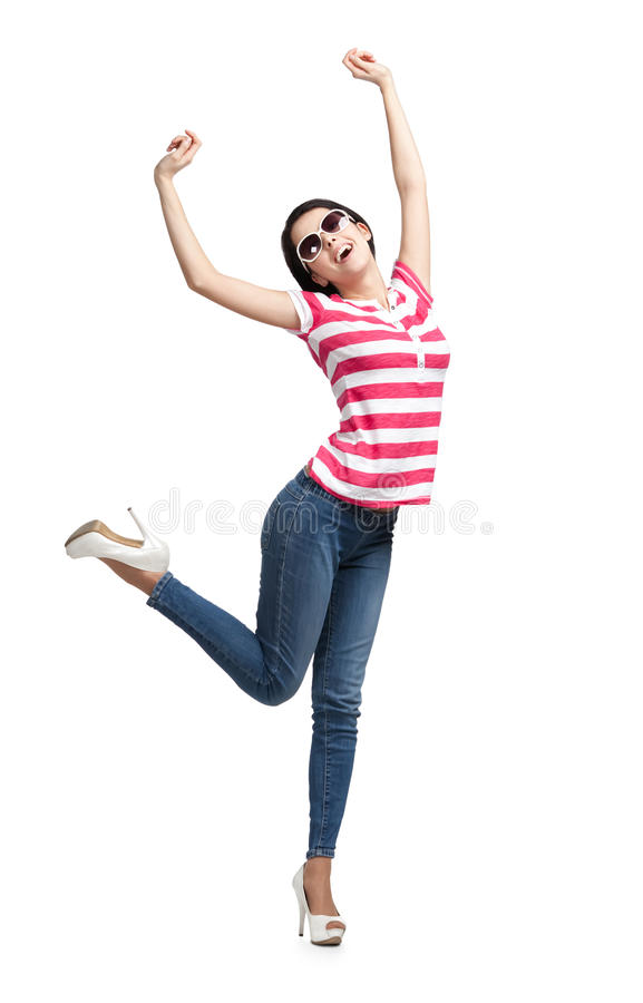 Download Smiling dancing teenager stock photo. Image of pleased - 26759488