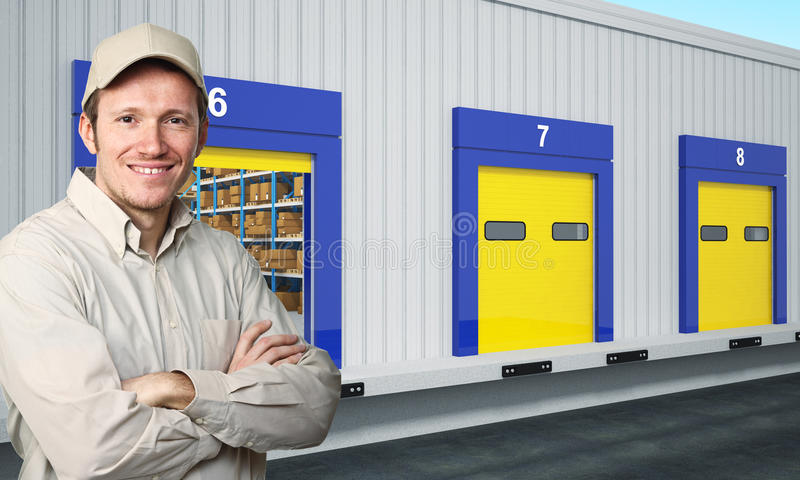Smiling Delivery Man Royalty Free Stock Photography