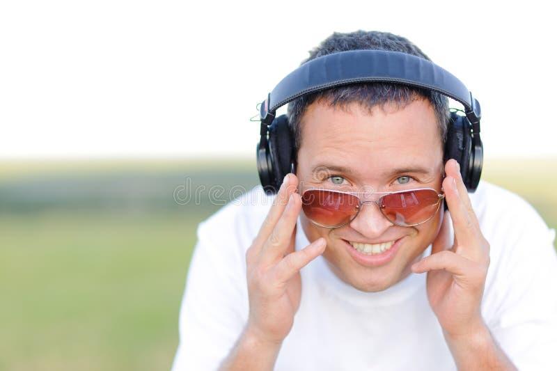 Smiling DJ royalty free stock photography