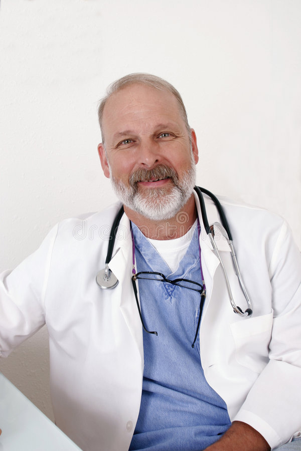 Smiling doctor royalty free stock photo