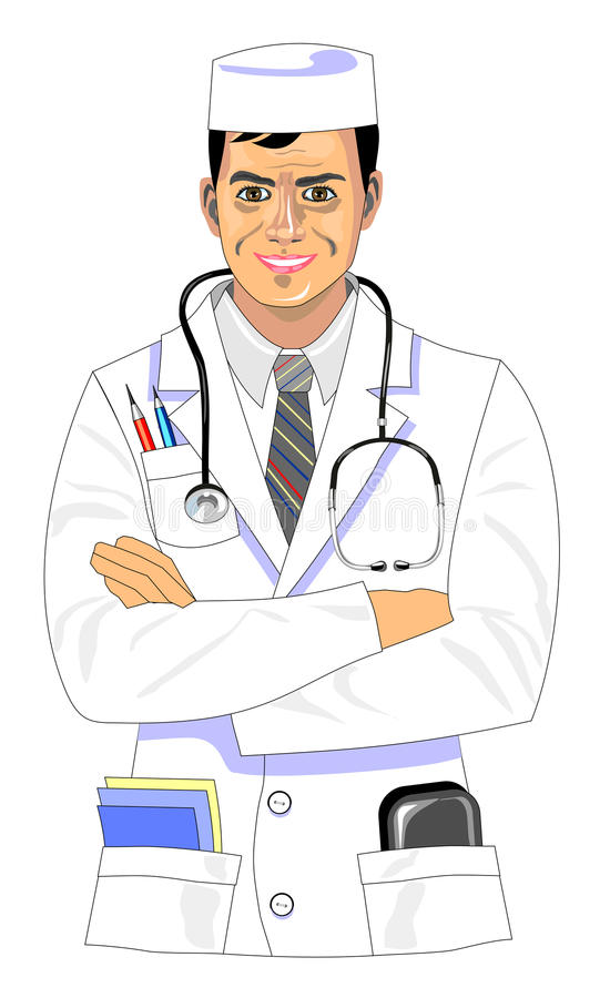 Download Smiling doctor stock vector. Image of confidence, smiling - 28498173
