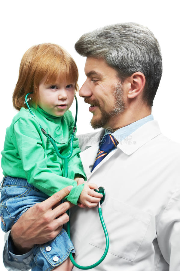 Download Smiling Doctor In White Overall With Stethoscope Stock Photo - Image: 21616932