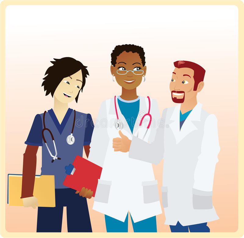 Download Smiling Doctors stock vector. Image of latino, care, coworkers - 10618570