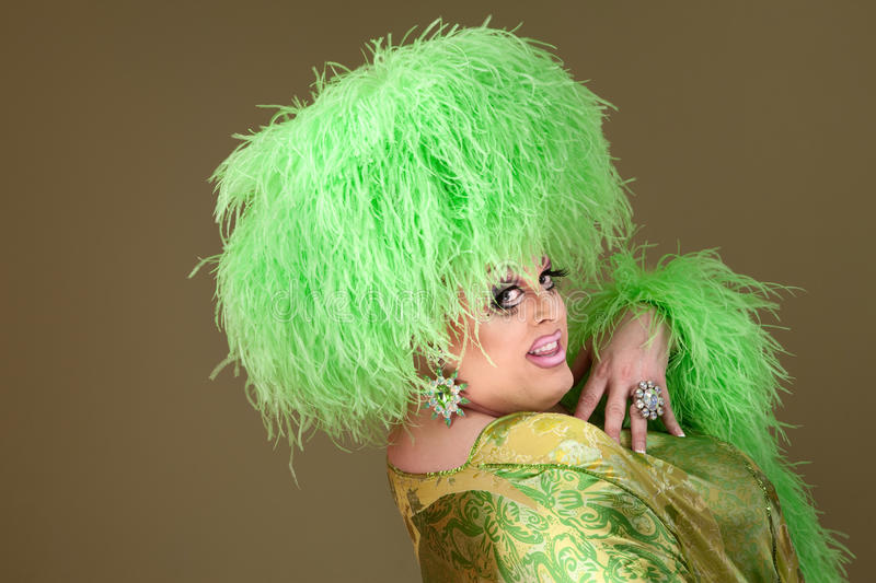 Smiling Drag Queen royalty free stock photo