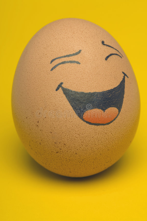 Smiling Egg stock image