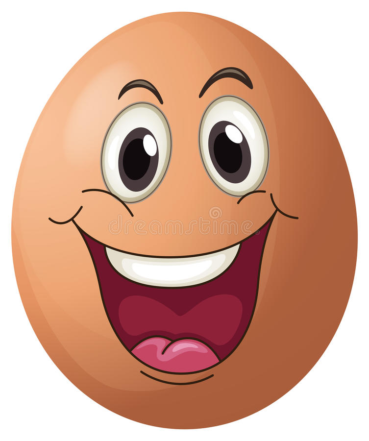 A Smiling Egg Stock Vector