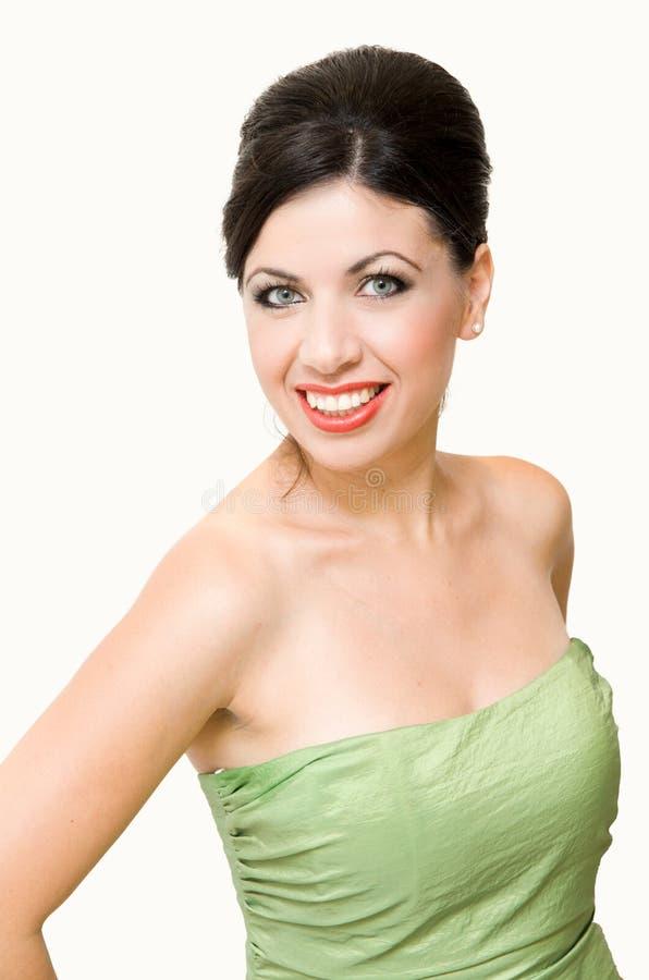 Smiling elegant woman stock photos