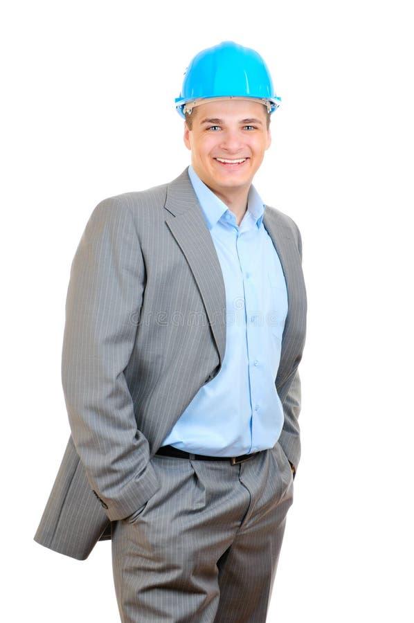 Smiling engineer royalty free stock photos