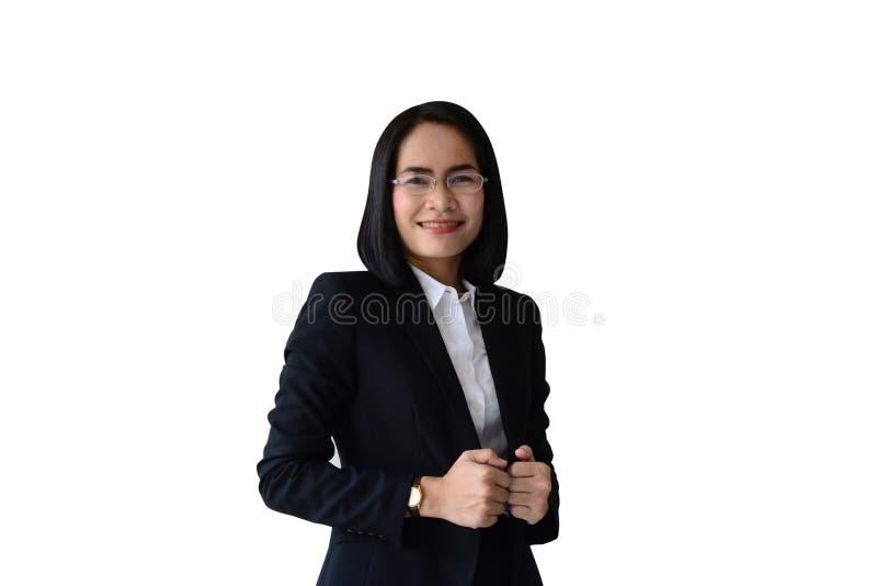 smiling face of asian business woman stock photos