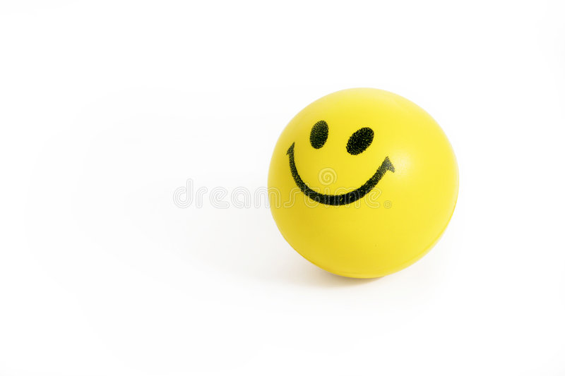 Smiling face stress ball royalty free stock photo