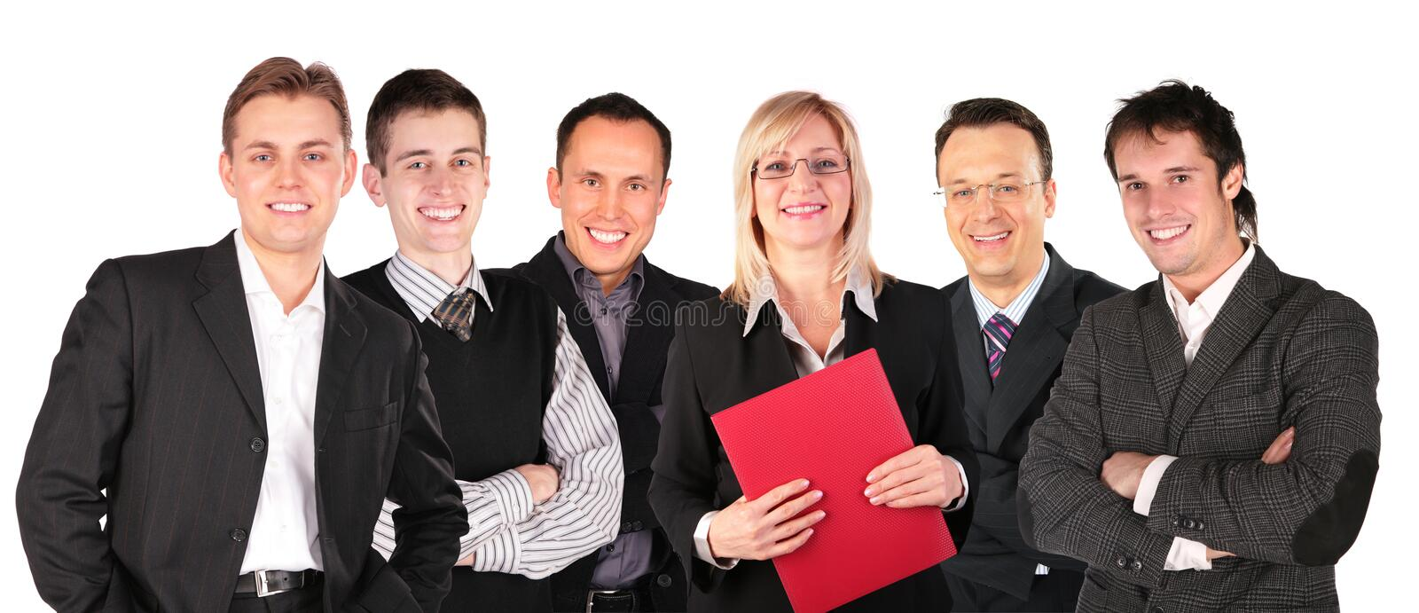 Smiling faces business people group royalty free stock image