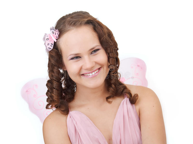 Download Smiling fairy. stock photo. Image of caucasian, head - 15436942