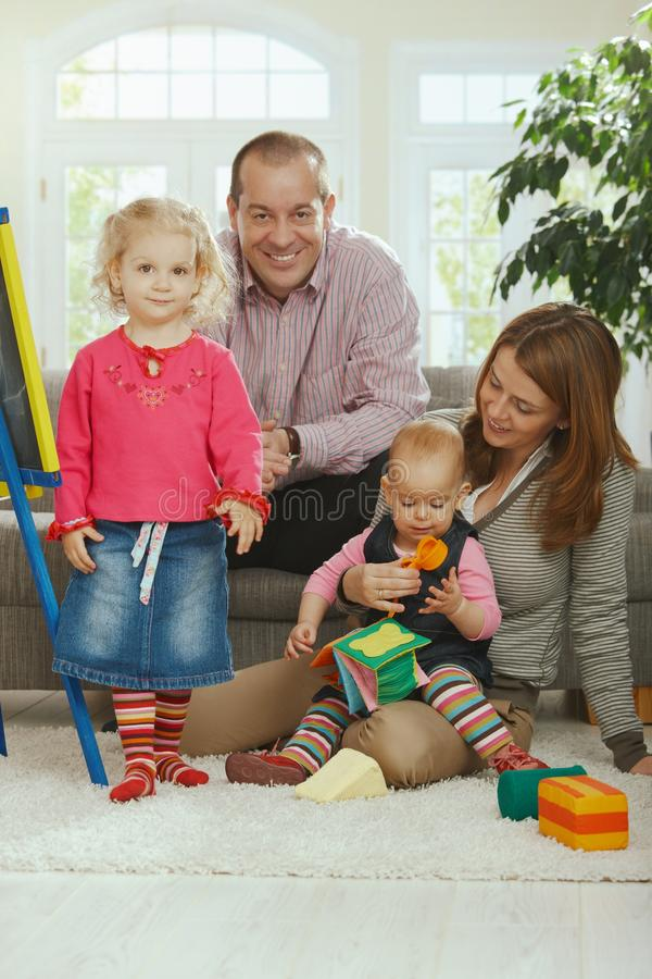 Download Smiling family portrait stock image. Image of board, adorable - 22784893