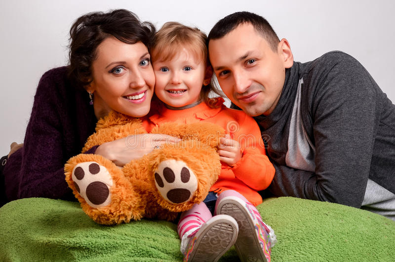 Smiling family portrait close up royalty free stock image