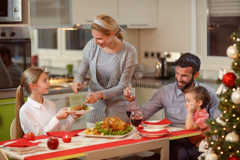 Family together Christmas celebration concept stock photos