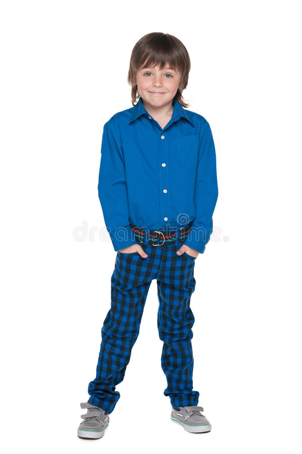 Smiling fashion little boy stock photography