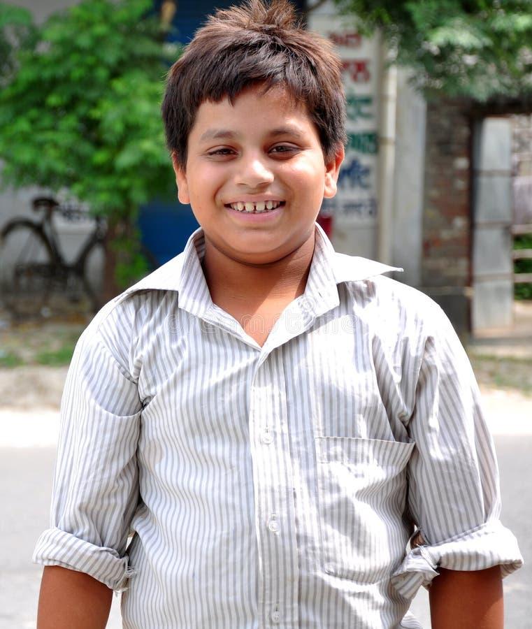 Smiling fat boy royalty free stock photos