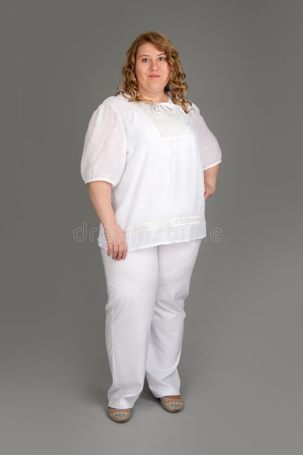 Free Smiling Fat Woman Royalty Free Stock Images - 24978299