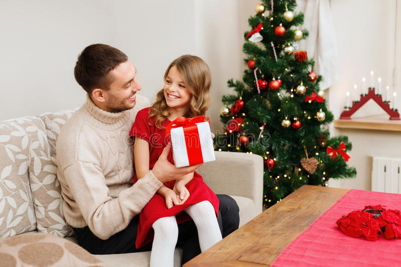 Download Smiling Father And Daughter Looking At Each Other Stock Photo - Image of cosy, family: 35320752