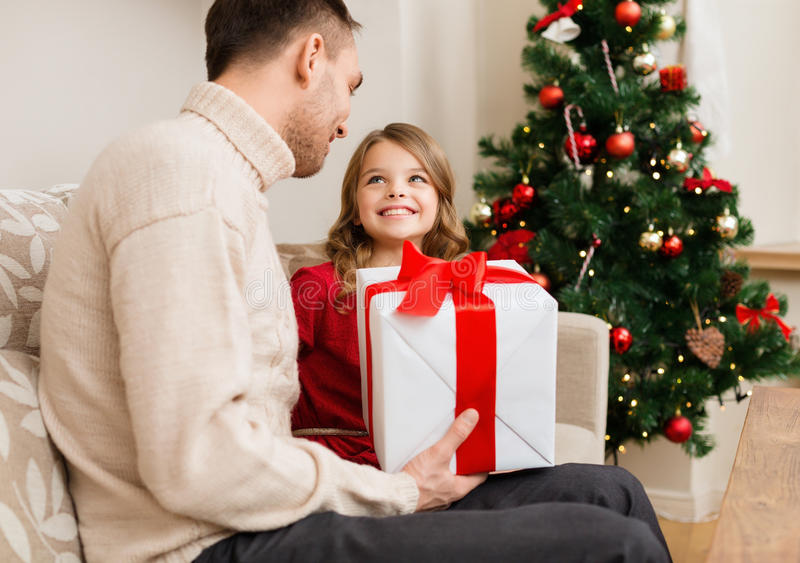 Download Smiling Father And Daughter Looking At Each Other Stock Image - Image: 35225321