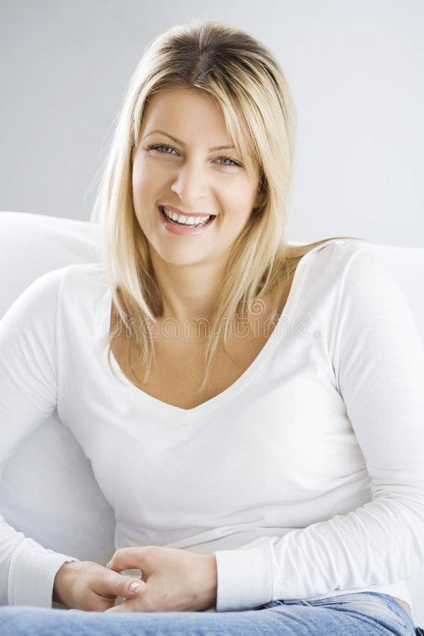 Smiling female royalty free stock photography