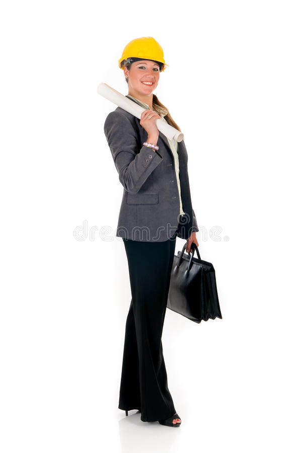 Smiling female architect stock image