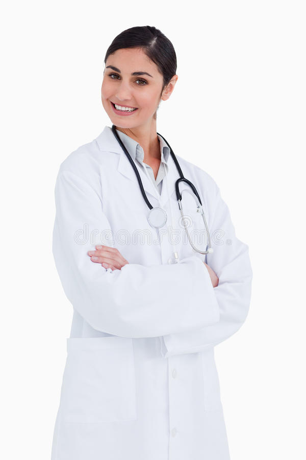 Download Smiling Female Doctor With Her Arms Folded Stock Image - Image: 23015235