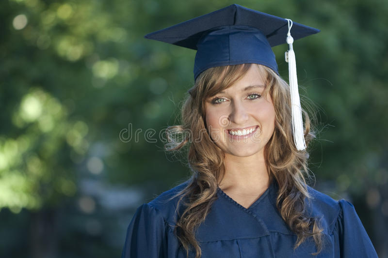 Smiling Female Graduate stock image