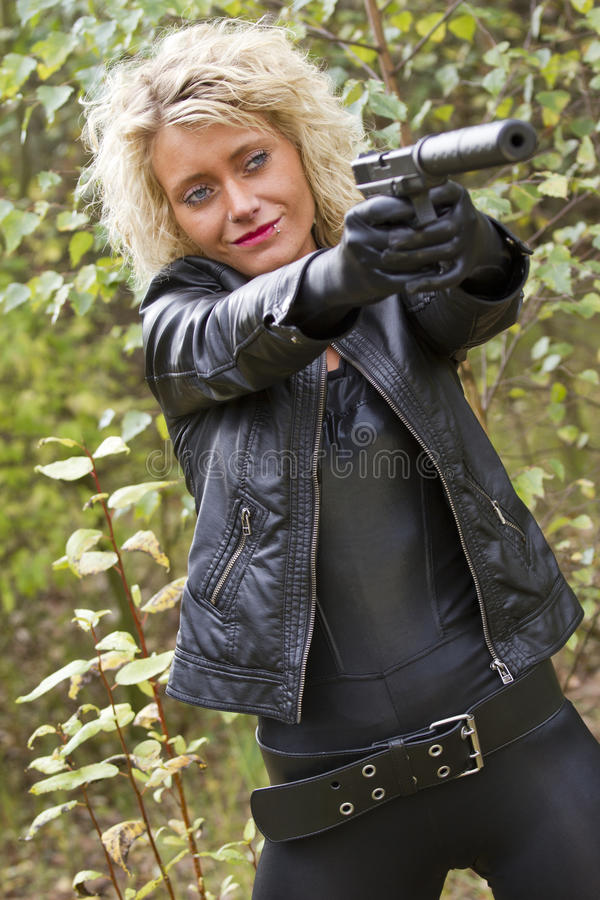 Download Smiling female killer stock photo. Image of model, outdoor - 27333824