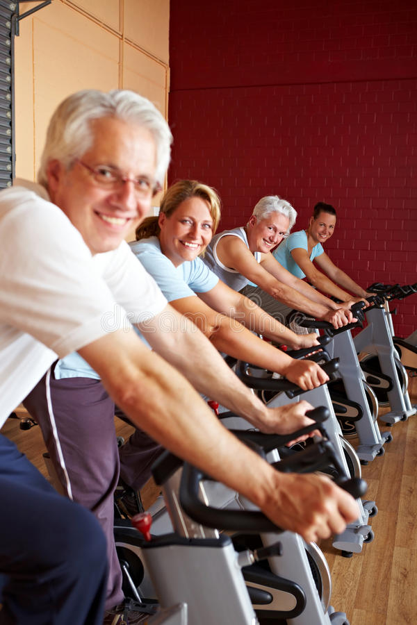 Download Smiling Fitness Group In Gym Stock Photo - Image: 16957920