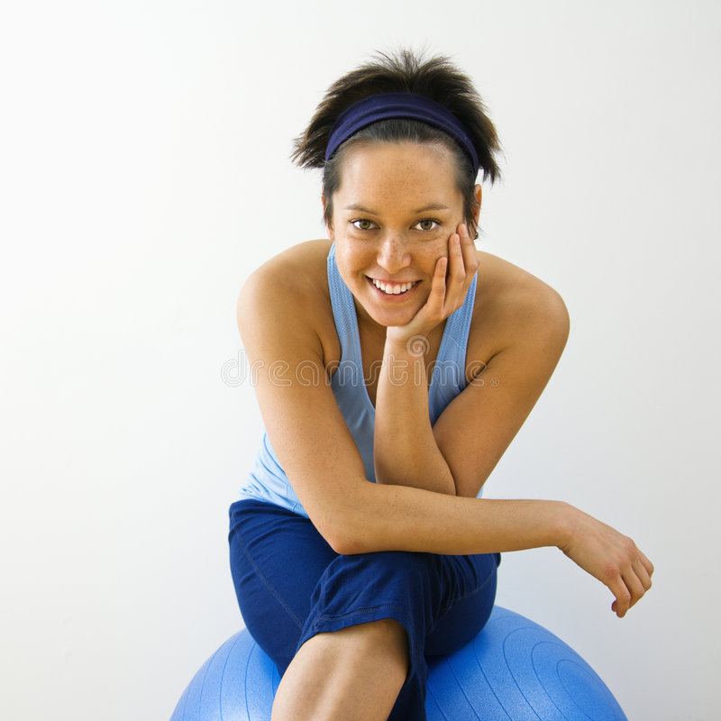 Smiling Fitness Woman Stock Photo