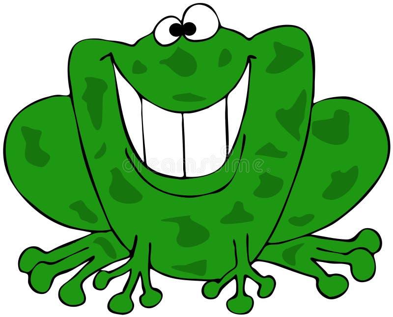 Download Smiling frog stock illustration. Image of teeth, frog - 30375979