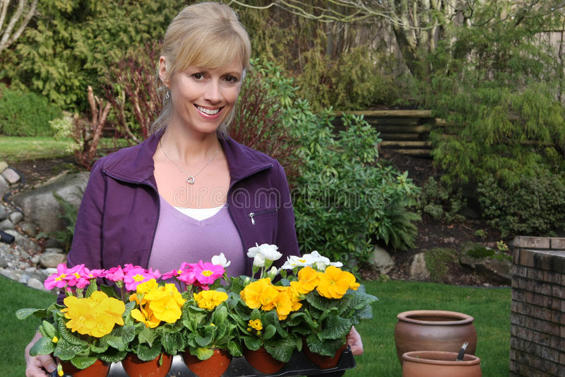 Download Smiling gardener stock image. Image of spring, garden - 12864367