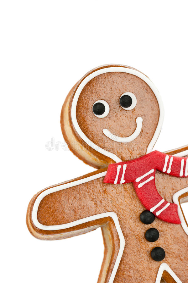 Smiling Gingerbread Man royalty free stock images