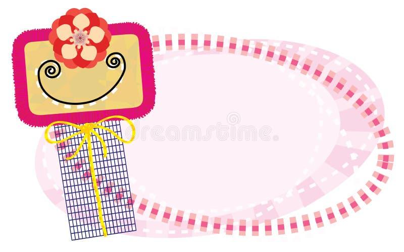 Smiling girl royalty free illustration