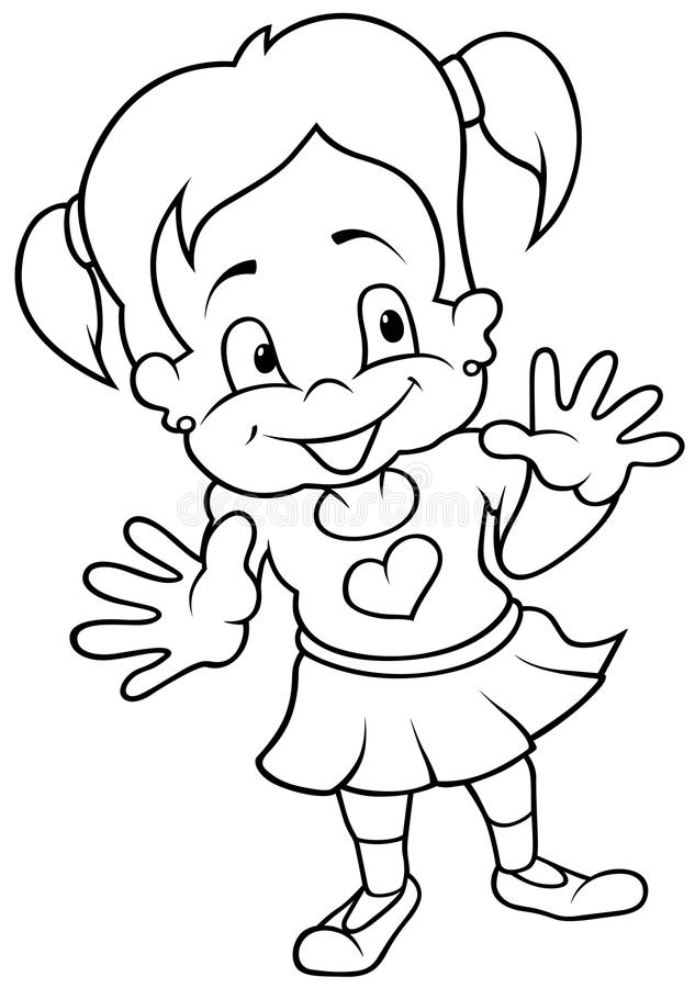 Download Smiling Girl stock vector. Image of clipart, drawing - 17834960