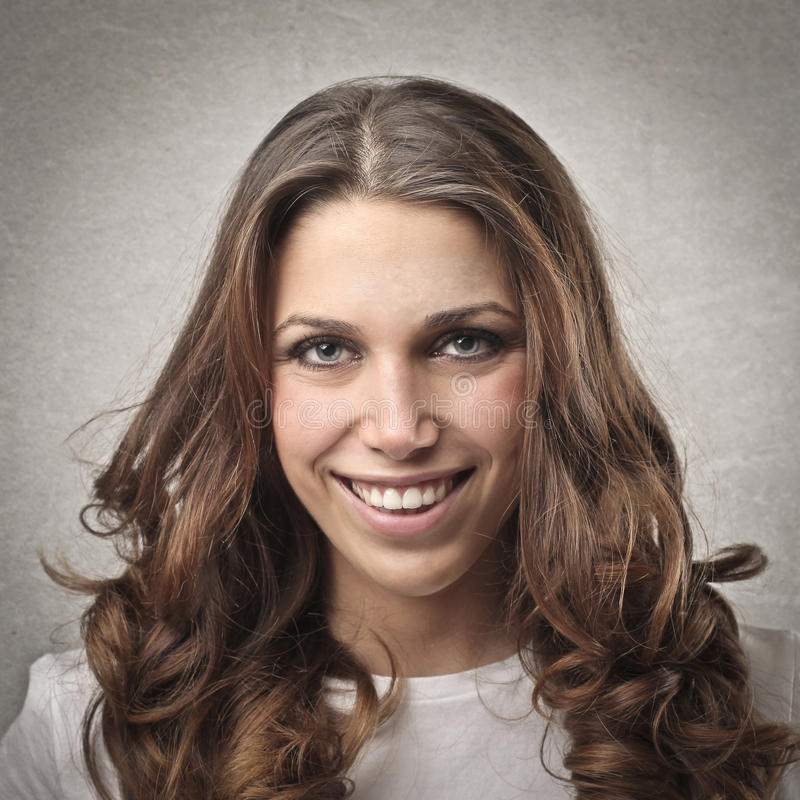 Download Smiling Girl stock image. Image of brown, young, portrait - 28622831