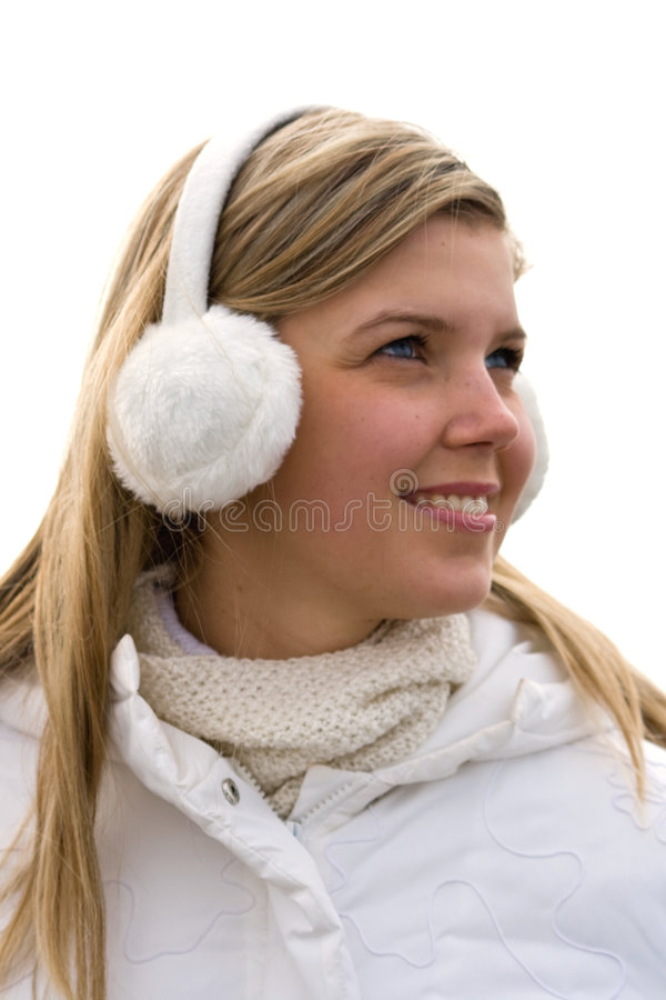 Download Smiling Girl In Headset Ear Muffs Stock Photo - Image: 4675442