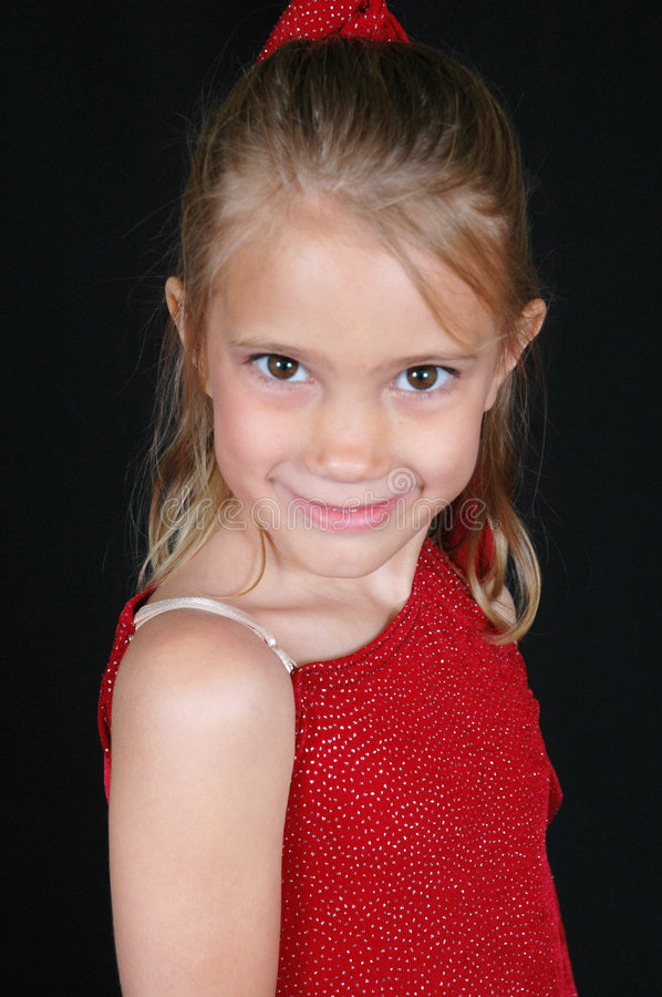 Free Smiling Girl In Red Shirt Royalty Free Stock Images - 359279