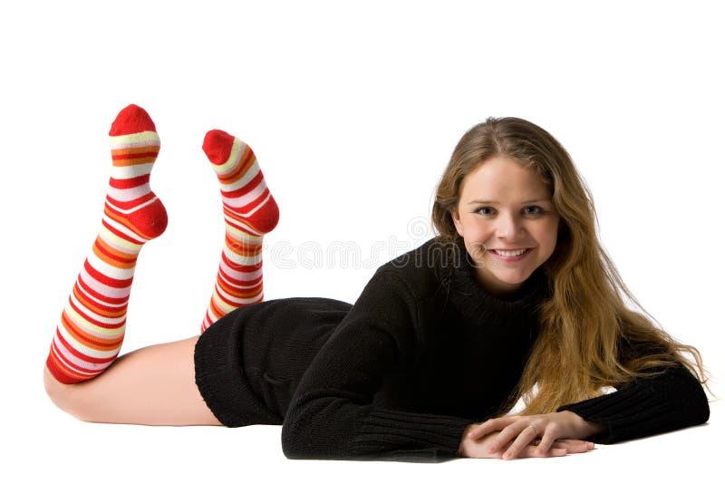 Young teen tube socks