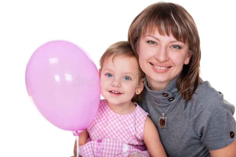 Download Smiling Girl In Pink And Her Mom Stock Photo - Image: 17980124