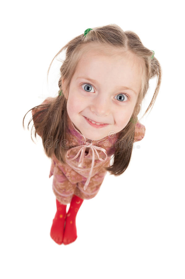 Free Smiling Girl Portrait Wide Angle Stock Photo - 30603910