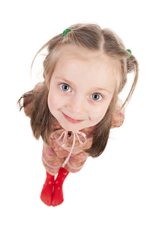 Free Smiling Girl Portrait Wide Angle Stock Image - 30831141