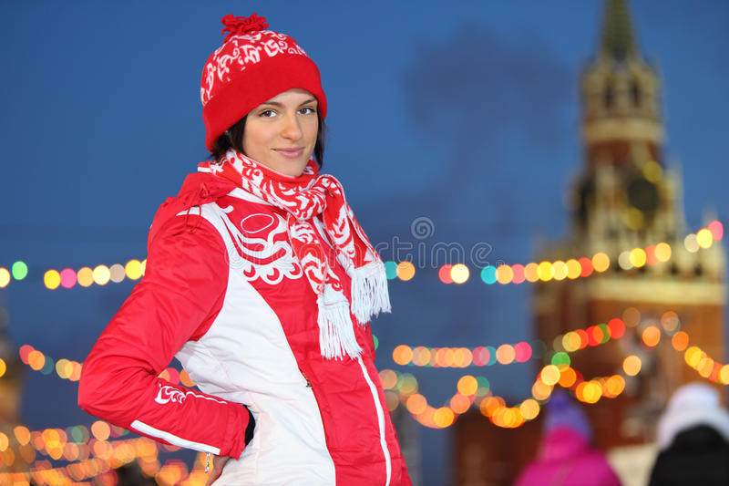 Download Smiling Girl At GUM-Skating Rink On Red Square Stock Photo - Image: 29734242